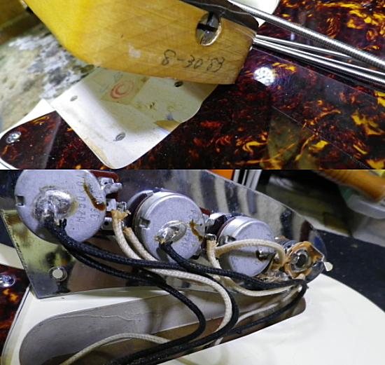 <美品 83' Fender JAPAN JVシリアル フジゲン製 JB62-75 USピックアップ搭載> _画像9