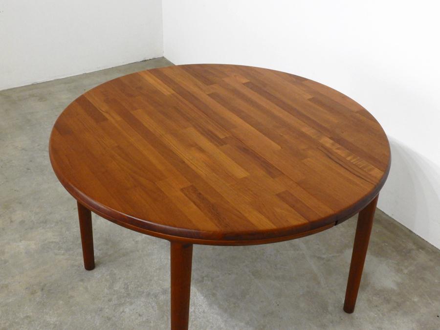 70年代ヴィンテージ 青林製作所 チーク無垢材 エクステンションダイニングテーブル/北欧モダン デンマーク ウェグナー_画像3