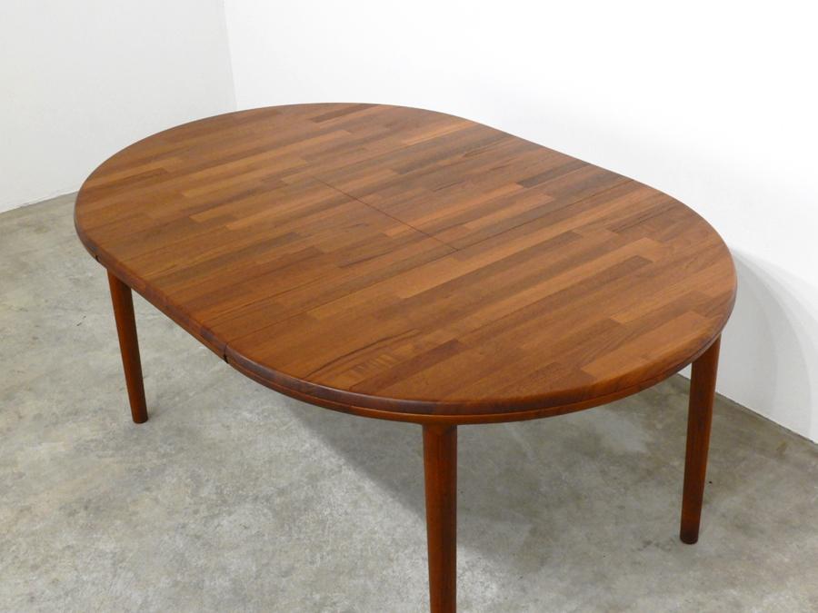70年代ヴィンテージ 青林製作所 チーク無垢材 エクステンションダイニングテーブル/北欧モダン デンマーク ウェグナー_画像5