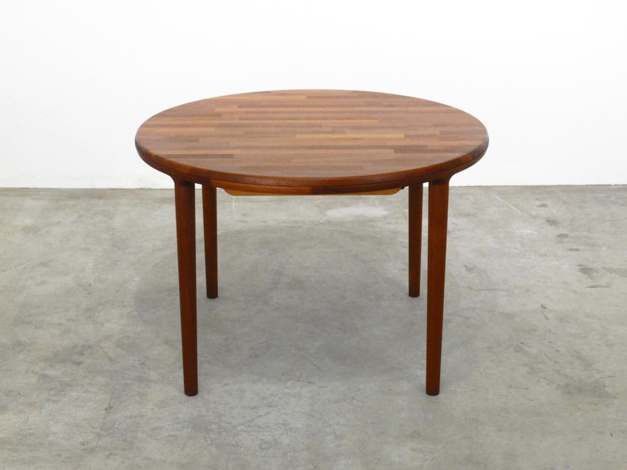 70年代ヴィンテージ 青林製作所 チーク無垢材 エクステンションダイニングテーブル/北欧モダン デンマーク ウェグナー_画像2