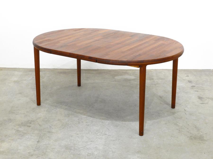 70年代ヴィンテージ 青林製作所 チーク無垢材 エクステンションダイニングテーブル/北欧モダン デンマーク ウェグナー