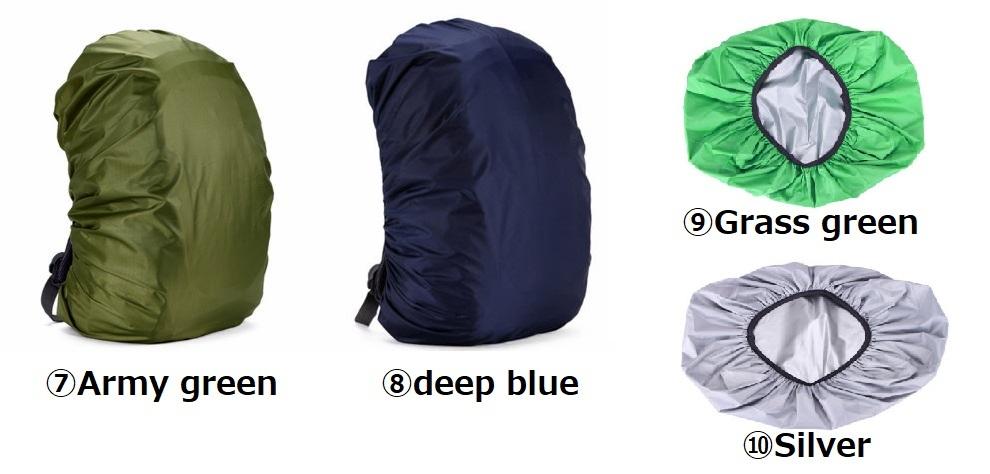 【13色レインカバー】防水 バッグ リュック バックパック 20L 30L 35L 40L 50L 60L キャンプ ハイキング クライミング アウトドア M021_画像4