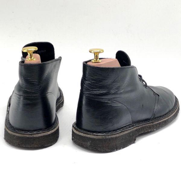 即決★Clarks★25.5cm レザーデザートブーツ クラークス メンズ UK7 黒 ブラック 本革 チャッカブーツ 本皮 クレープソール レースアップ_画像2
