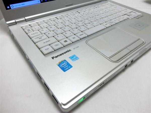 良品・薄型・大画面【SSD搭載】Panasonic Let's note CF-LX3 CF-LX3YD1CS/Core i5/8GB/128GB SSD/最新Windows10/Office/PC01561_画像3