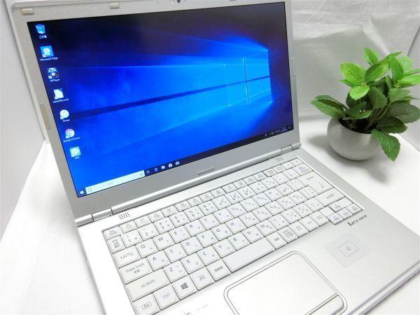 良品・薄型・大画面【SSD搭載】Panasonic Let's note CF-LX3 CF-LX3YD1CS/Core i5/8GB/128GB SSD/最新Windows10/Office/PC01559