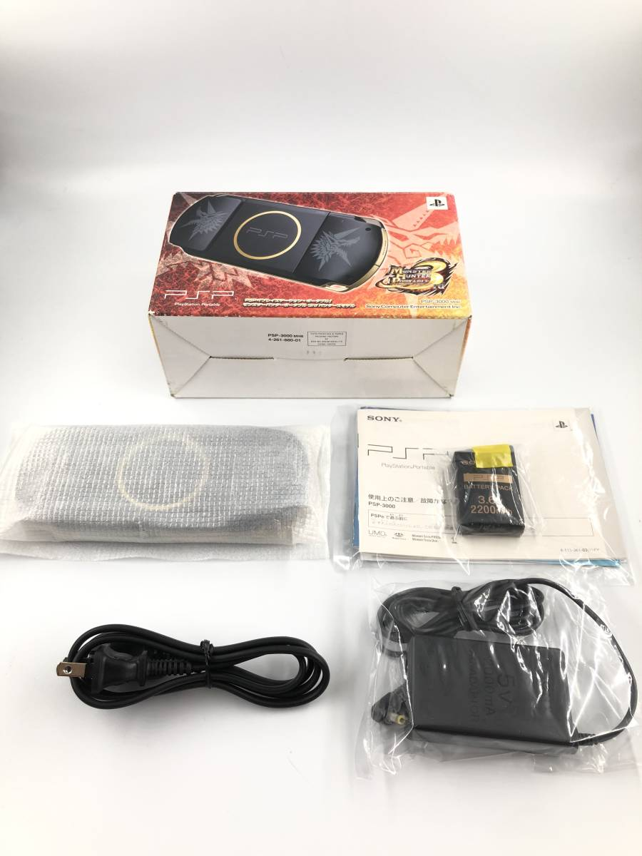 ★ほぼ新品 完品★ PSP モンスターハンターポータブル 3rd ハンターズモデル (PSP-3000MHB) 動作保証あり _画像2