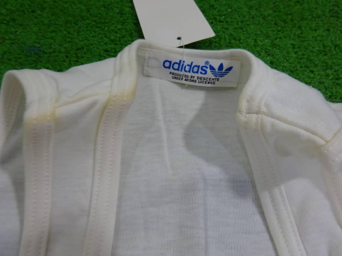 (o)スポーツ用品店閉店【未使用】adidas アディダス ADS-115 タンクトップ ランニングシャツ サイズ:S/M 5点 ビンテージ 旧ロゴ 汚れアリ_画像4
