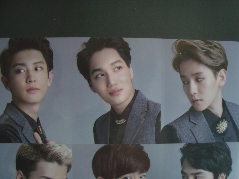韓国人気グループ EXO エクオ クリアファイル ロッテ デューティーフリー非売品_画像3