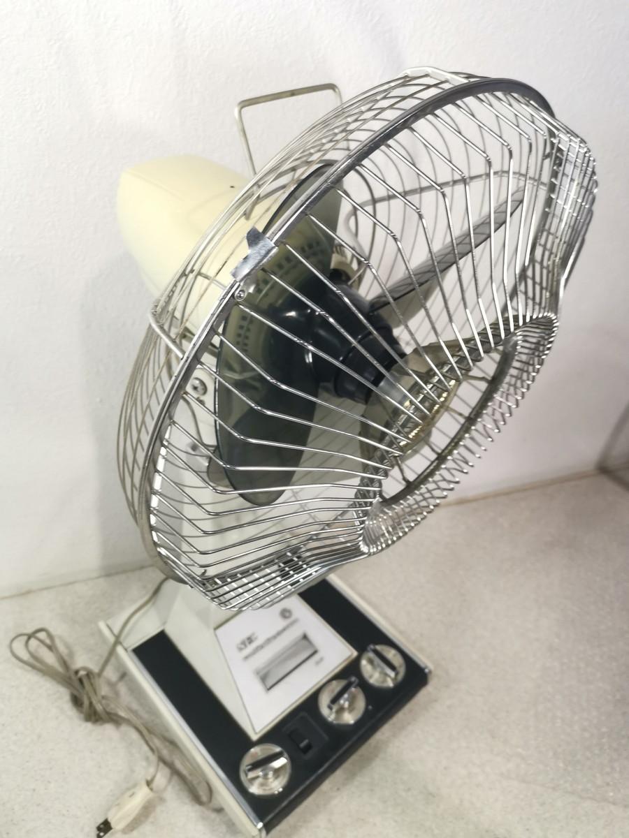 8187【動作品】NEC 新日本電気 扇風機 レトロ アンティーク 黒 NF-30WX(首振り機能NG) _画像8