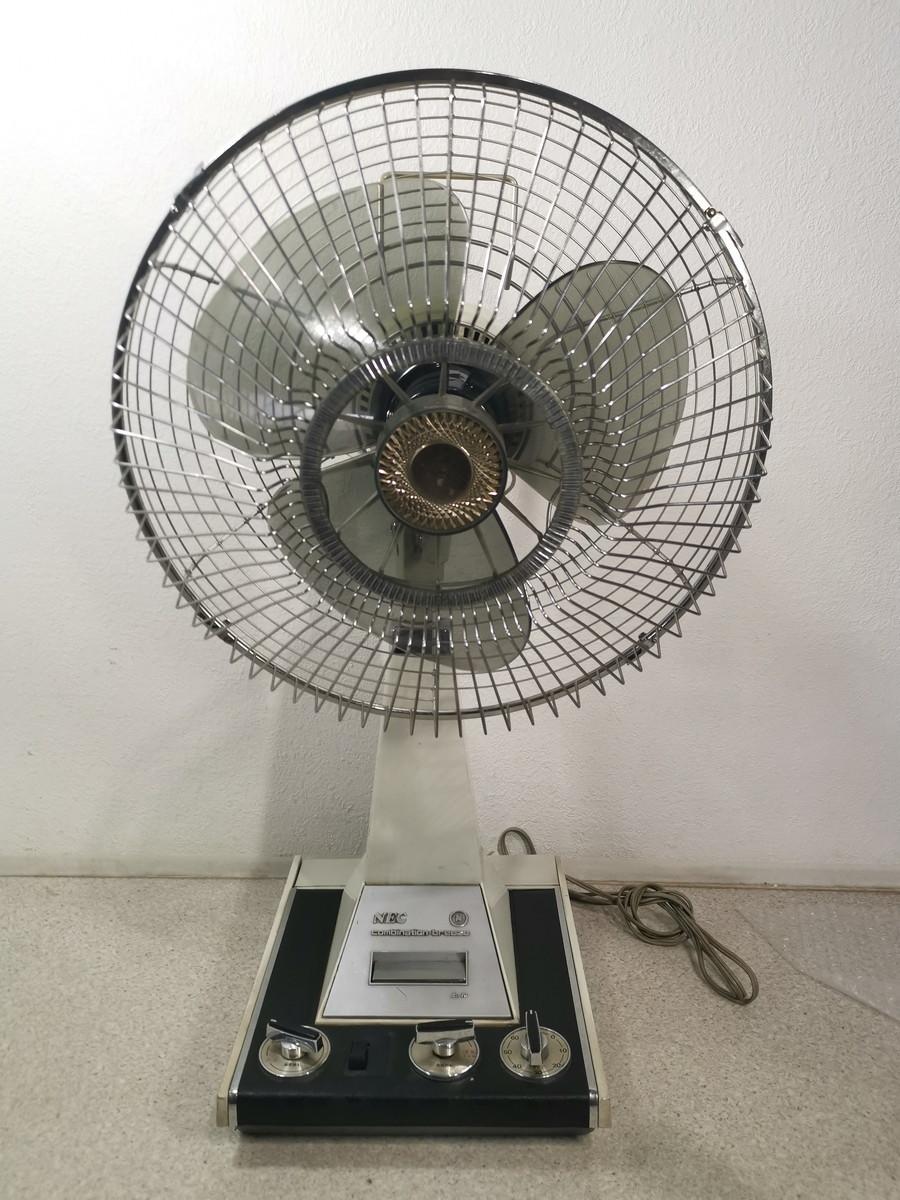 8187【動作品】NEC 新日本電気 扇風機 レトロ アンティーク 黒 NF-30WX(首振り機能NG)