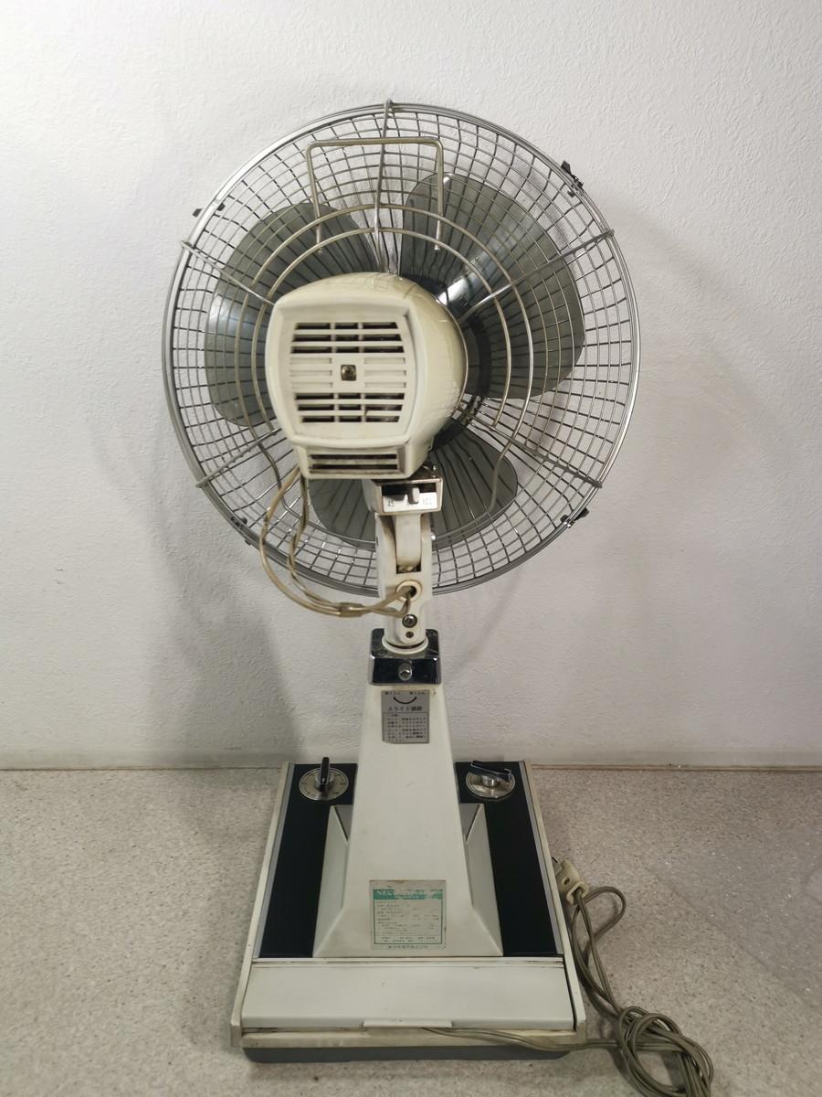 8187【動作品】NEC 新日本電気 扇風機 レトロ アンティーク 黒 NF-30WX(首振り機能NG) _画像5