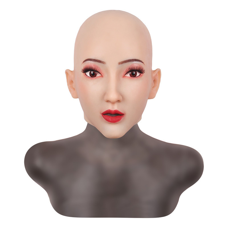女装必須 高級シリコン製 女装 仮面 男性用 変装 マスク CD 3代目 コスプレ 性転換マスク 男の娘 化粧可能