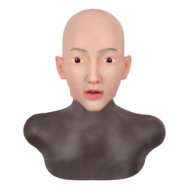 女装必須 高級シリコン製 女装 仮面 男性用 変装 マスク CD 3代目 コスプレ 性転換マスク 男の娘 化粧可能_画像6