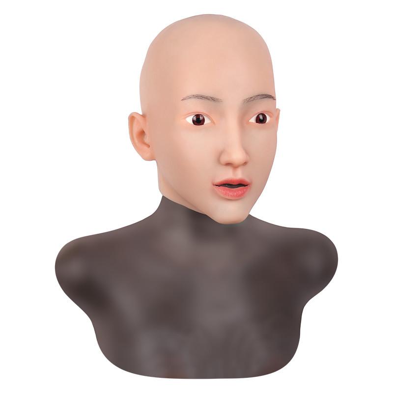 女装必須 高級シリコン製 女装 仮面 男性用 変装 マスク CD 3代目 コスプレ 性転換マスク 男の娘 化粧可能_画像5