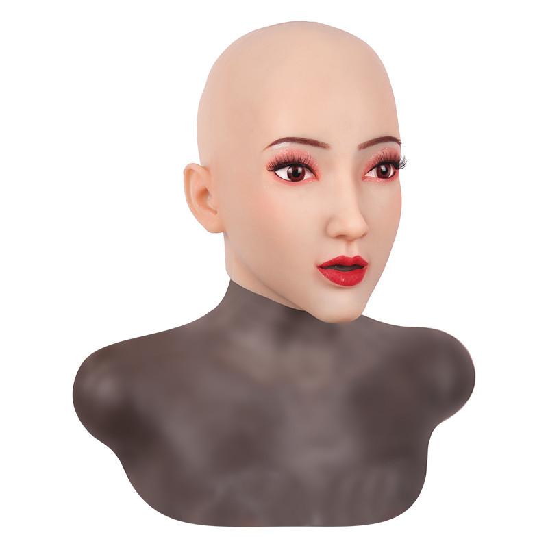 女装必須 高級シリコン製 女装 仮面 男性用 変装 マスク CD 3代目 コスプレ 性転換マスク 男の娘 化粧可能_画像2