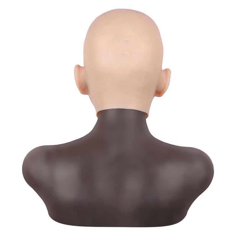 女装必須 高級シリコン製 女装 仮面 男性用 変装 マスク CD 3代目 コスプレ 性転換マスク 男の娘 化粧可能_画像4