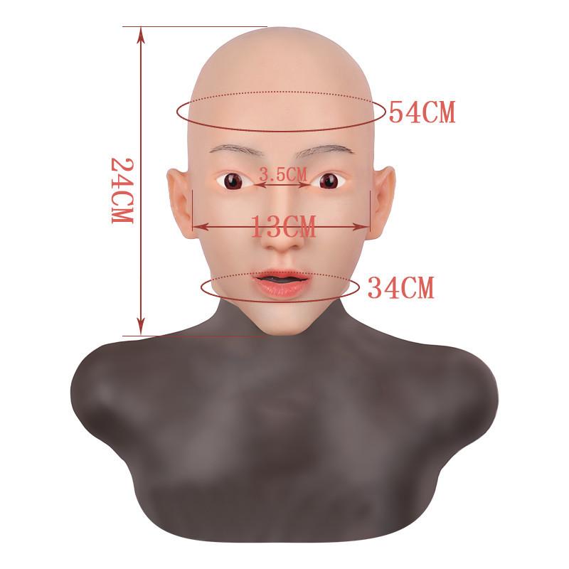 女装必須 高級シリコン製 女装 仮面 男性用 変装 マスク CD 3代目 コスプレ 性転換マスク 男の娘 化粧可能_画像8