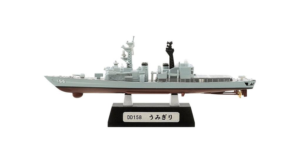 1/1250 現用艦船キットコレクション 6 海上自衛隊 呉基地 うみぎり フルハル ver. A type F-toys エフトイズ 汎用護衛艦 DD-158