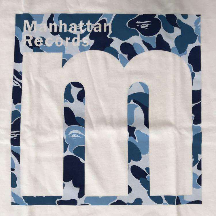 ★新品★ Manhattan Records × BAPE Tシャツ Lサイズ a bathing ape マンハッタンレコード エイプ ベイプ ABC camo ABCカモ nigo 迷彩_画像2