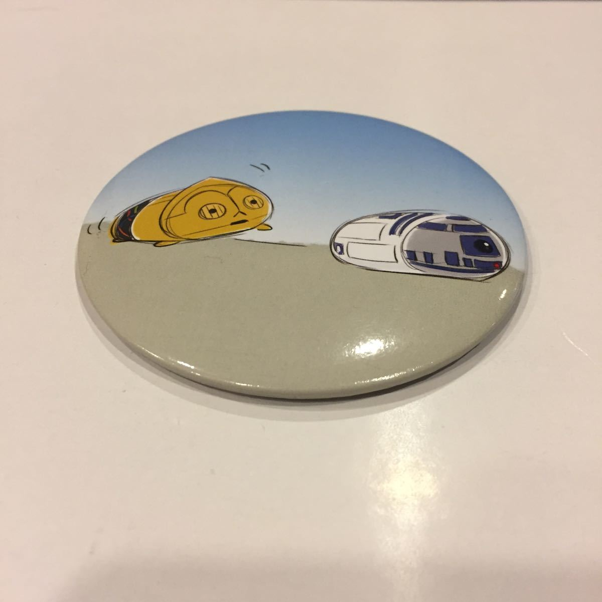 DROIDS R2-D2 /& C-3PO OFFICIAL STAR WARS SET OF 3 METAL PIN BADGES *NEW BB-8