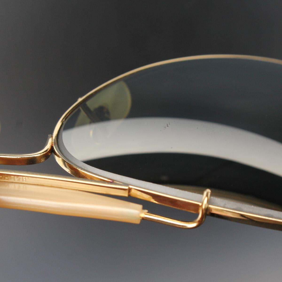 (yk98304)美品B&LボシュロムRayBanレイバン アウトドアーズマン58mm ミラー (80s-90s USA製サングラス ヴィンテージ ティアドロップなわて)_画像8