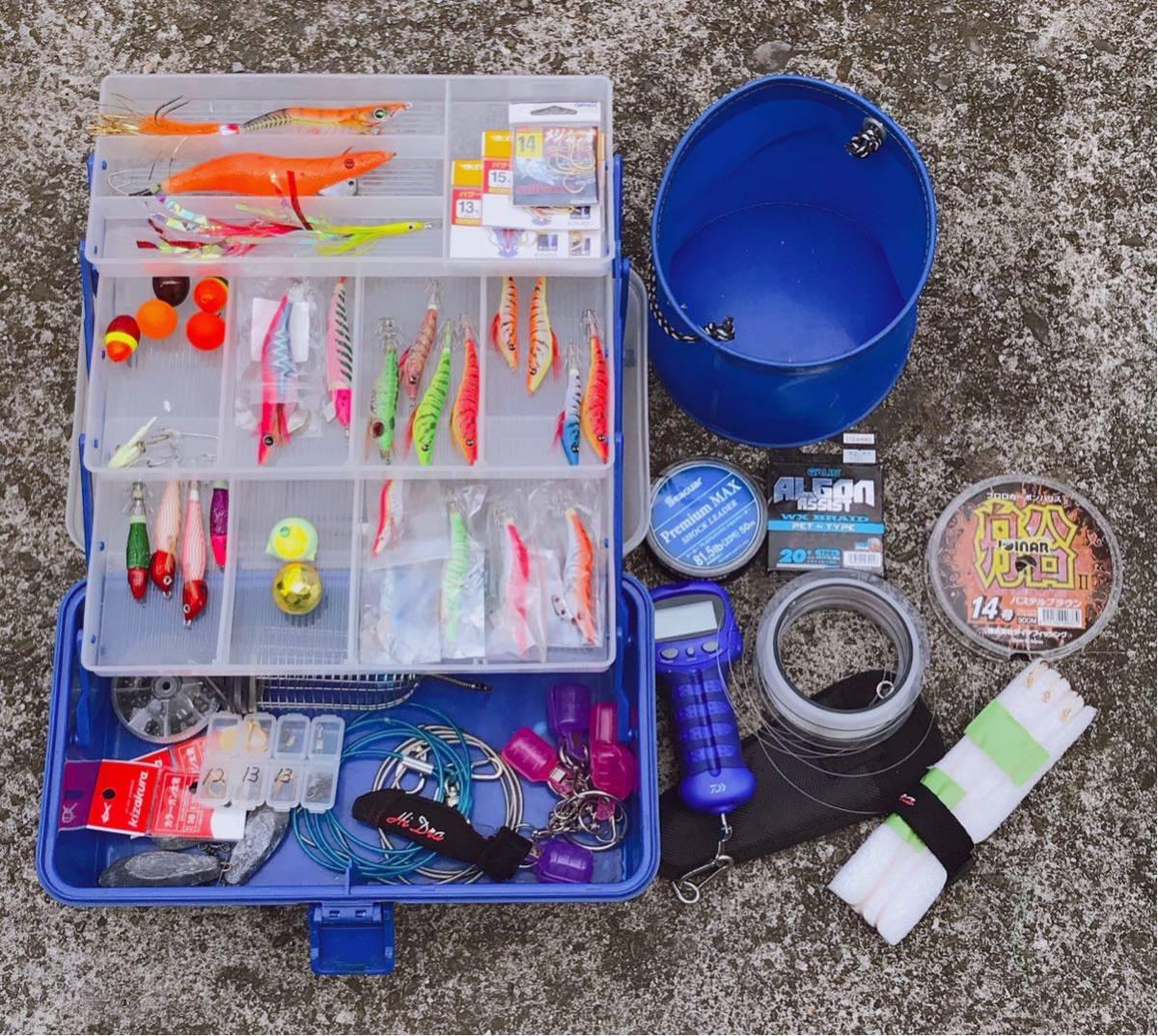 1円 海釣り 仕掛け いろいろ セット 鉛スッテ タコエギ ハリスなど 画像参照