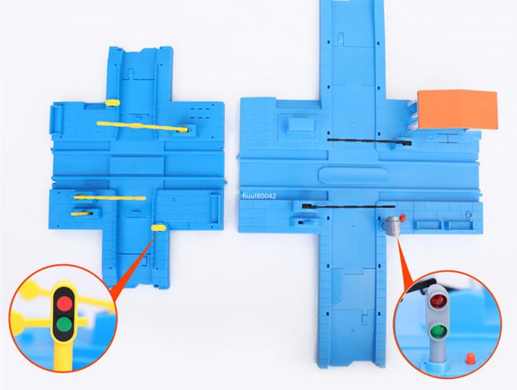 強烈推薦★トーマストレインセット 軌道電動カー 恐竜ジェットコースター 特大軌道シーン 陸橋軌道 子供おもちゃ パズル 充電式 R87-230_画像7