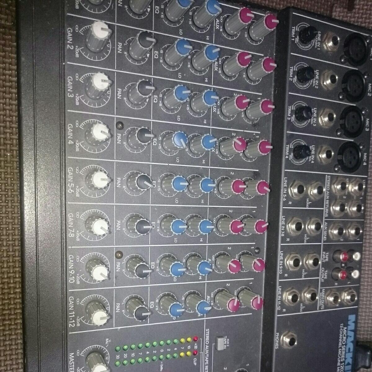 MACKIE 12ch コンパクトミキサー 1202 macro series 初代 動作品 USA_画像5