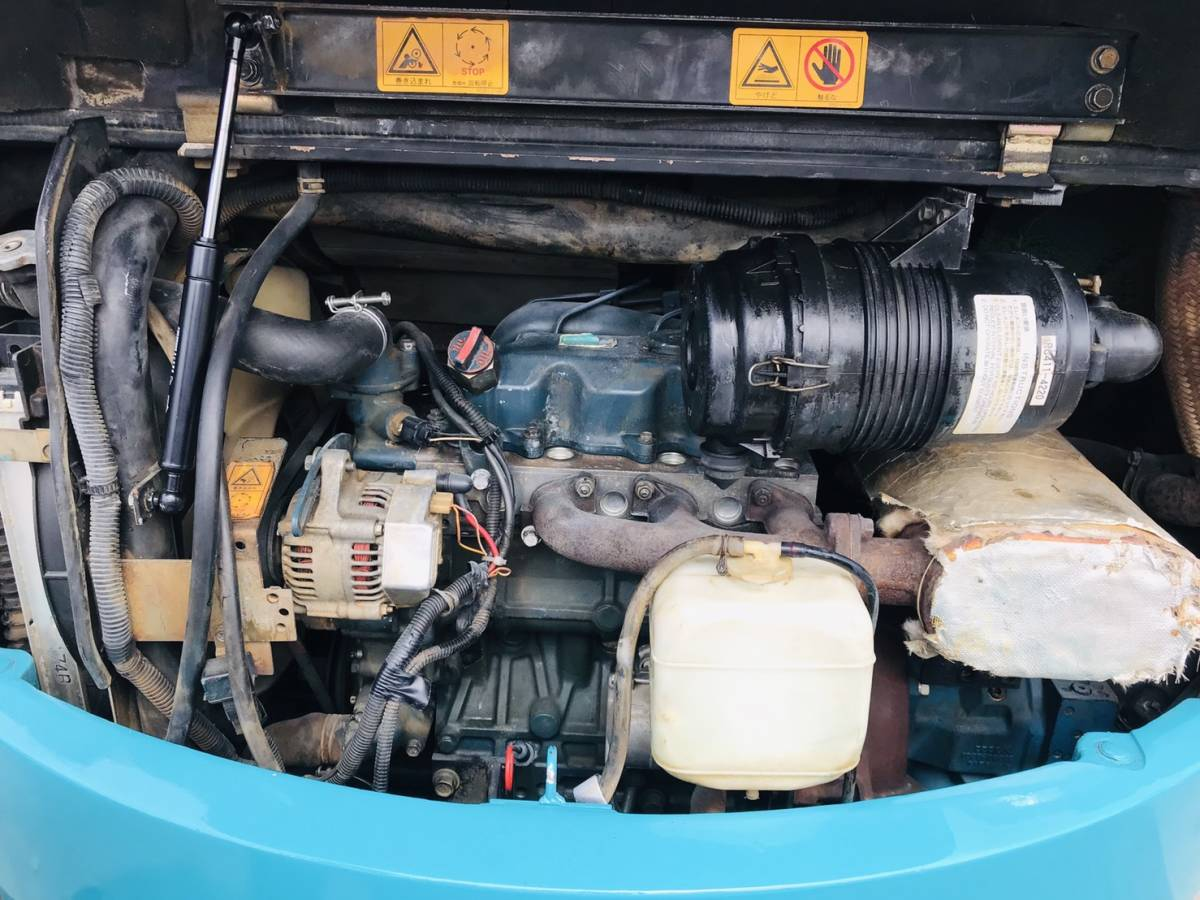 クボタ ミニユンボ RX-303 倍速付き 1297時間 操作パターン切り替え有 キャタ・シート新品  LEDライト 取扱説明書付 陸送可 下取OK_画像10