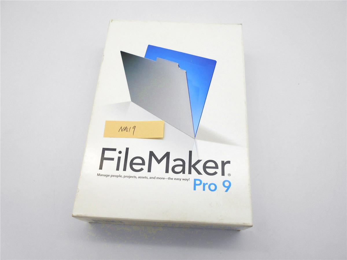 ★中古 FileMaker Pro 9 ファイルメーカー Mac os & Windows データベースソフト プロ ソフト 請求書 文書管理 資産管理 住所録 NA19_画像3