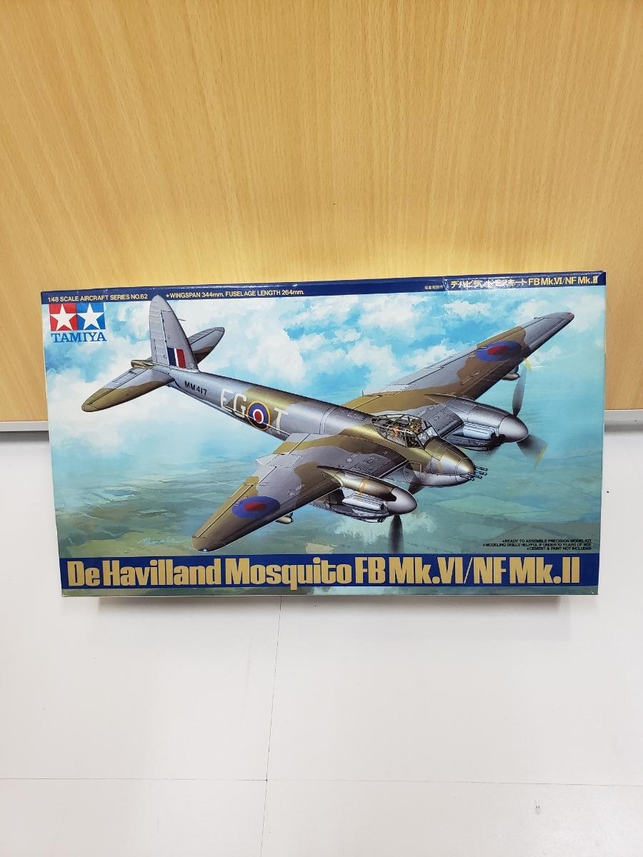 ○TAMIYA タミヤ デ・ハビランドモスキート FB MK.VI/NF MK.Ⅱ 1/48 プラモデル 未組立 (YH8-273)
