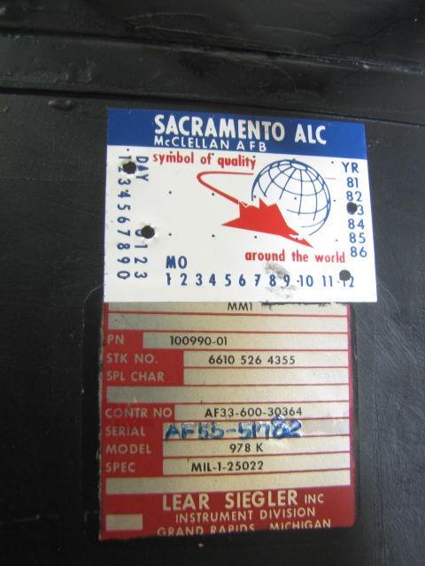コックピット アナログ計器 姿勢指示器/ADI 1983年 戦闘機用 自衛隊/米軍 F-4 ファントム?_画像4