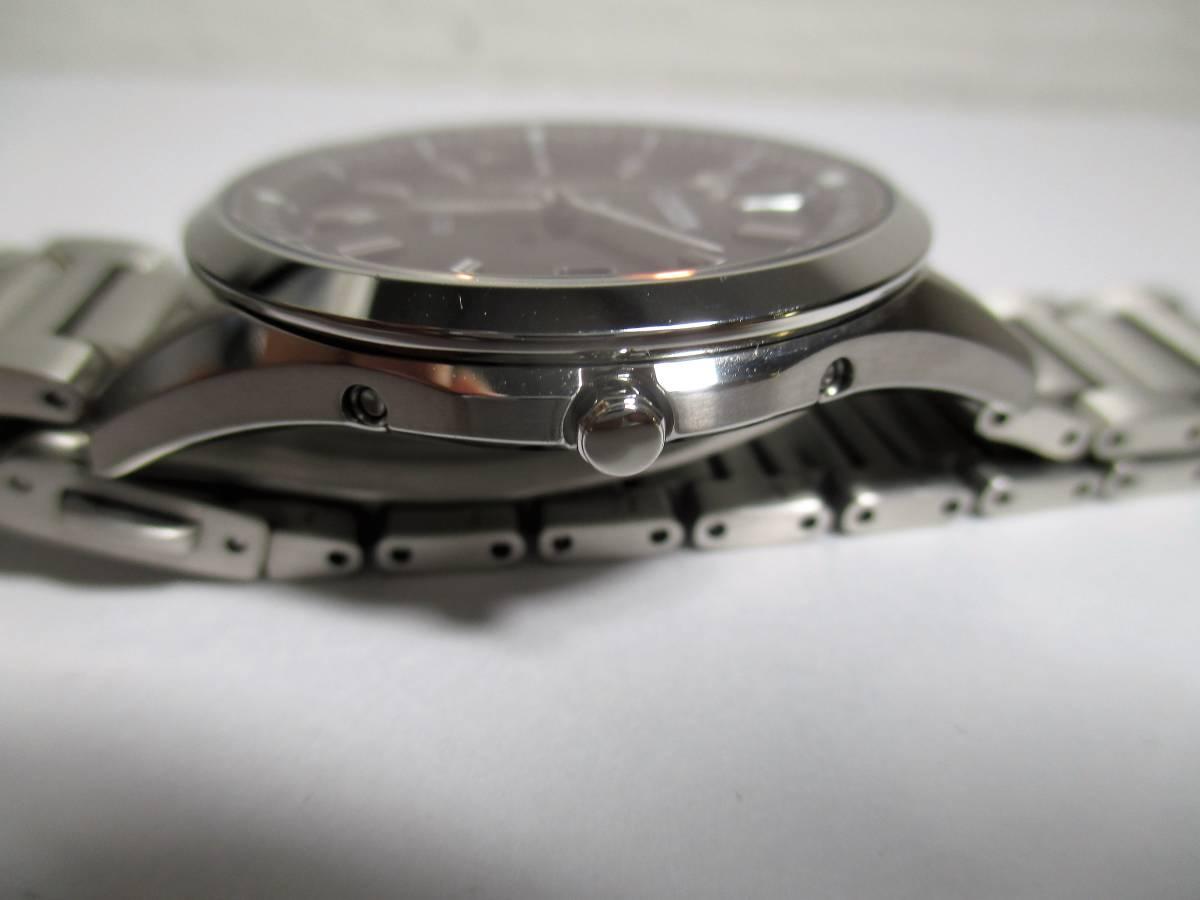 売切 美品 エクシード AS7090-51E ブラック チタン 電波 (19_画像8