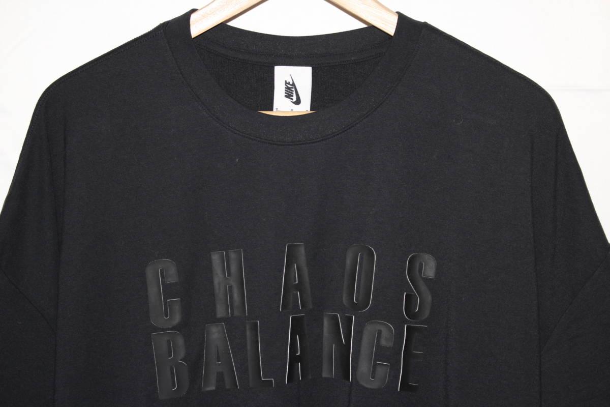 ナイキ × アンダーカバー コラボ Tシャツ 黒 M 新品 NIKE x UNDERCOVER CHAOS BALANCE TEE BLACK NEW 2019SS_画像3