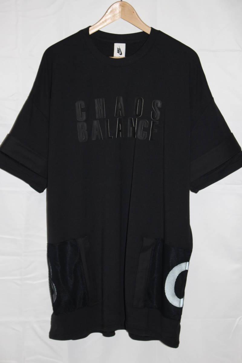 ナイキ × アンダーカバー コラボ Tシャツ 黒 M 新品 NIKE x UNDERCOVER CHAOS BALANCE TEE BLACK NEW 2019SS_画像2