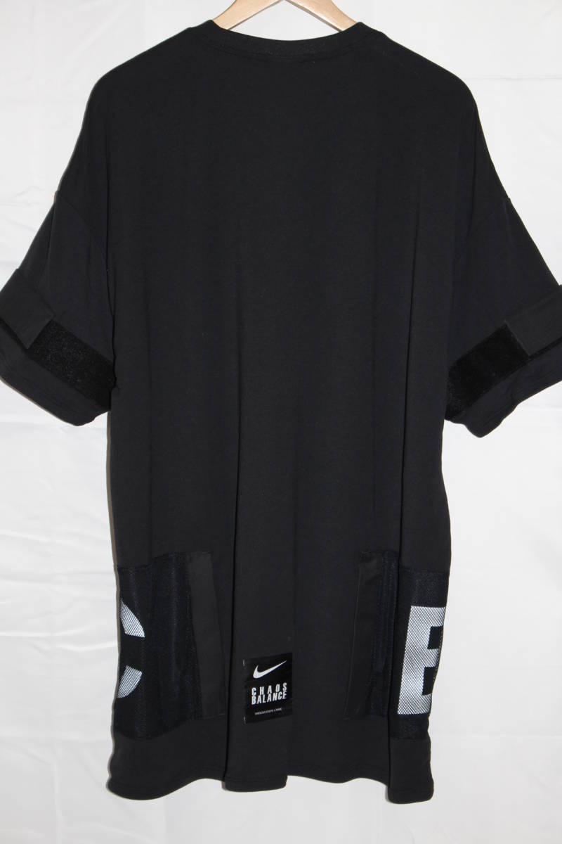 ナイキ × アンダーカバー コラボ Tシャツ 黒 M 新品 NIKE x UNDERCOVER CHAOS BALANCE TEE BLACK NEW 2019SS_画像5