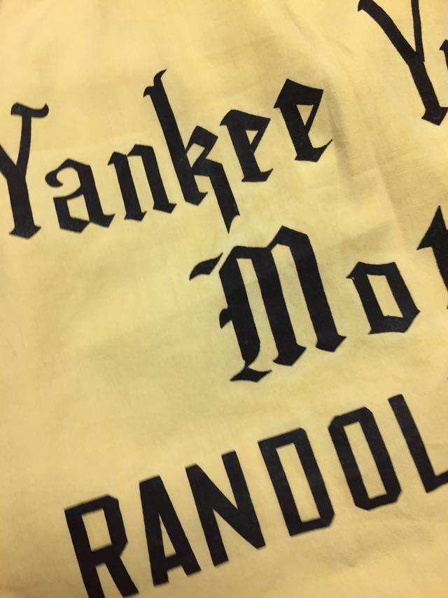 ◆ VINTAGE ◆ 60s HILTON ヒルトン ビンテージ オリジナル 黒三角タグ 背面フロッキープリント ライン入 ラグラン ボーリング シャツ S_画像3