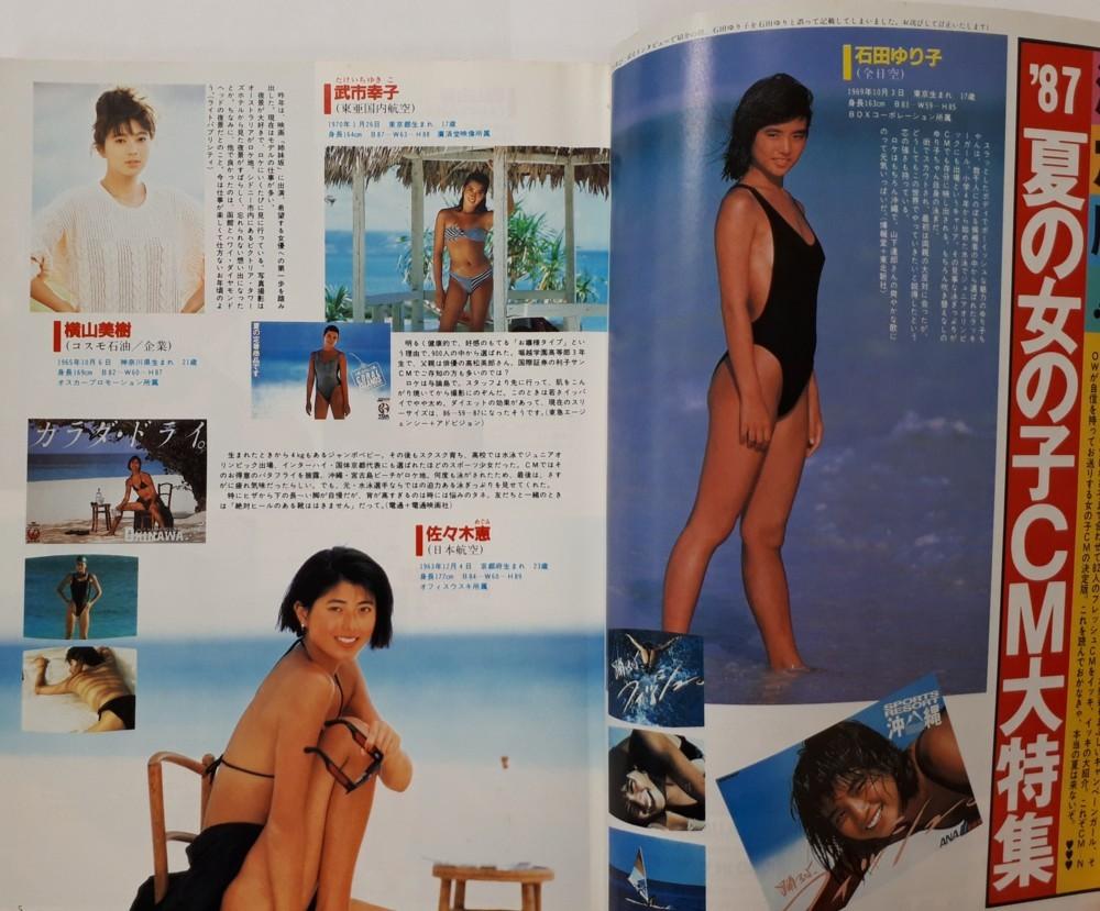 CM NOW シーエム・ナウ 1987年7月15日発行 vol.17 (表紙:八木さおり) 雑誌 (シーエムナウ) (夏の女の子CM大特集)_画像4