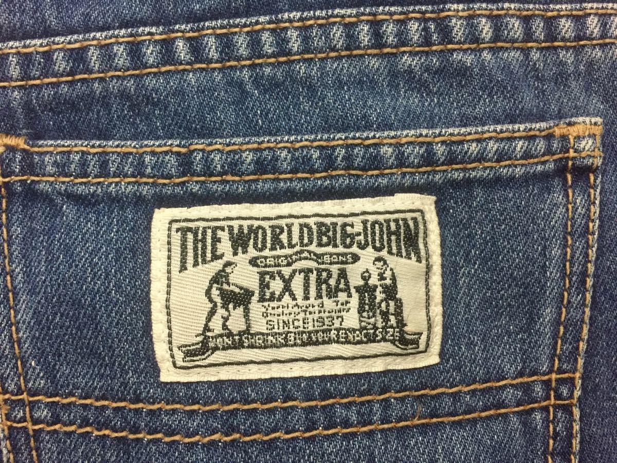 BIG JOHN EXTRA ビッグジョン デニム半ズボン 160-170cm (ブルーウォッシュ)_画像4