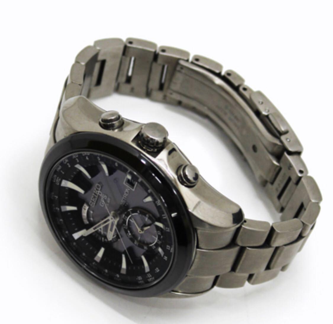 極上稼動美品!セイコー アストロン GPS ソーラー 7X52-0AA0 チタン メンズ 腕時計 取説 アストロンDVD 早い者勝ち!_画像8
