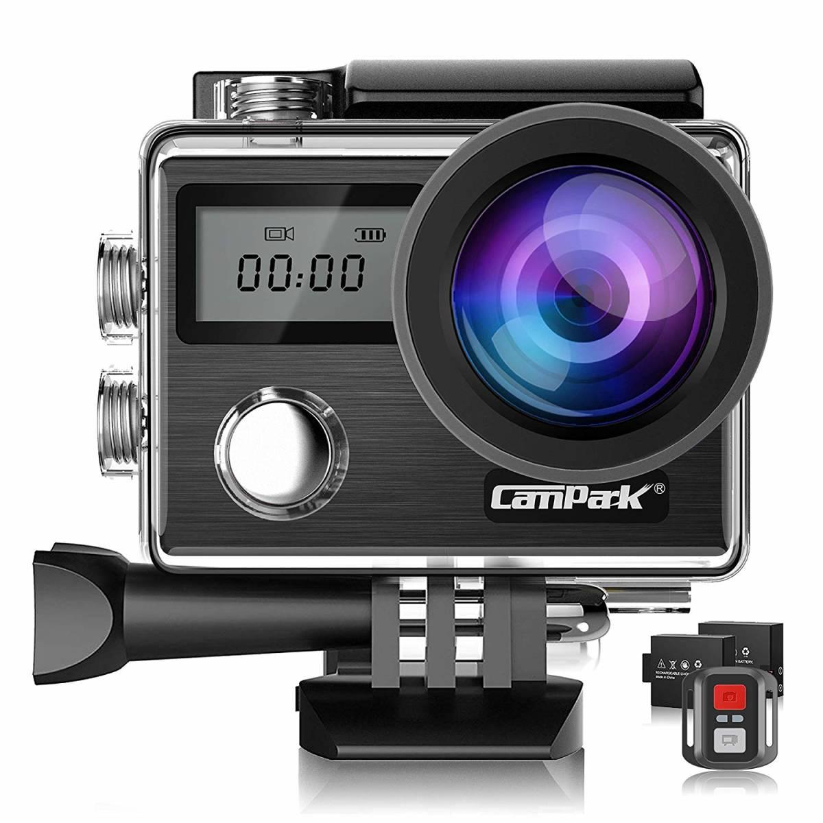 【新型】Campark X20 アクションカメラ 4K高画質 2000万画素 2インチタッチスクリーン HDMI出力30M防水 EIS手ブレ補正 WiFi搭載 170度広角
