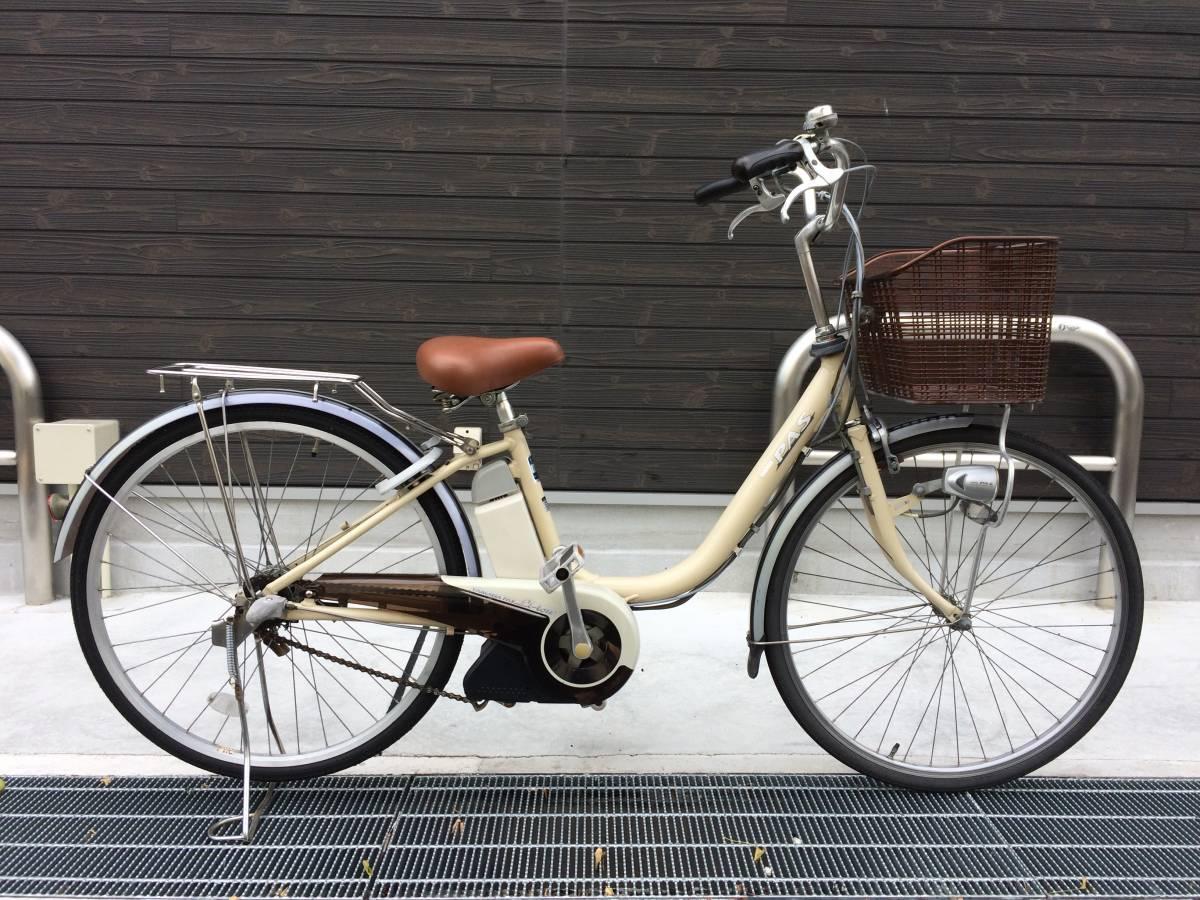 地域限定 ヤマハ パス リチウム 26インチ 8,1AH アイボリー アシスタ ビビ 神戸市 電動自転車