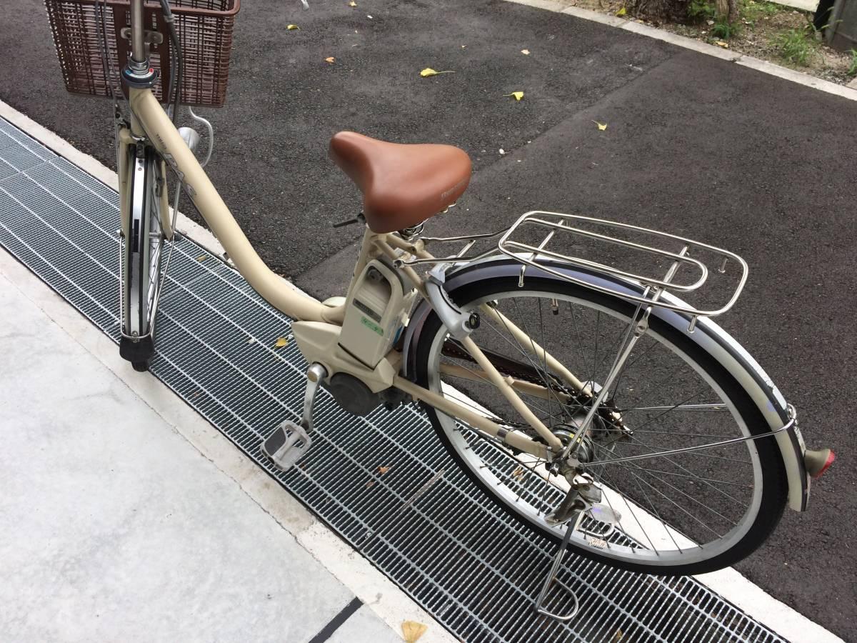 地域限定 ヤマハ パス リチウム 26インチ 8,1AH アイボリー アシスタ ビビ 神戸市 電動自転車_画像3