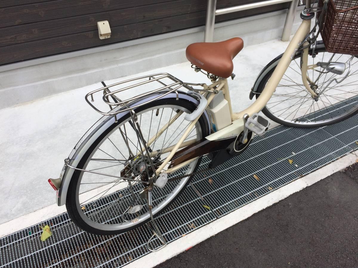 地域限定 ヤマハ パス リチウム 26インチ 8,1AH アイボリー アシスタ ビビ 神戸市 電動自転車_画像4