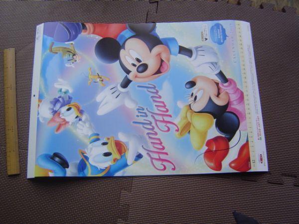 2019年DX大判disneyディズニーカレンダー非売品ミッキーマウスミニードナルドダックプルートグーフィーニモ第一生命販売促進グッズデイジー_画像3