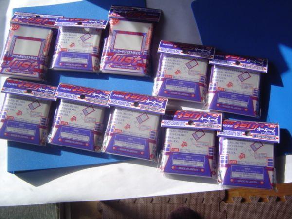 1000枚10セットカードバリアーアーケードジャストサイズパック100枚入り83×59mmゲームセンターカード用日本製made in japan_画像1