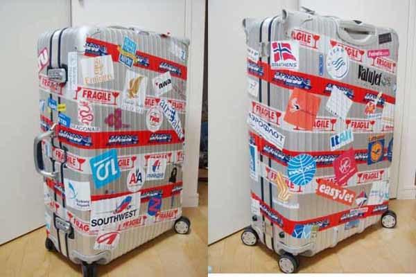 ★d7 gs UV加工 防水加工 ステッカー シール 海外旅行 スーツケース 5636 Minne 10_貼るとこんな感じです。