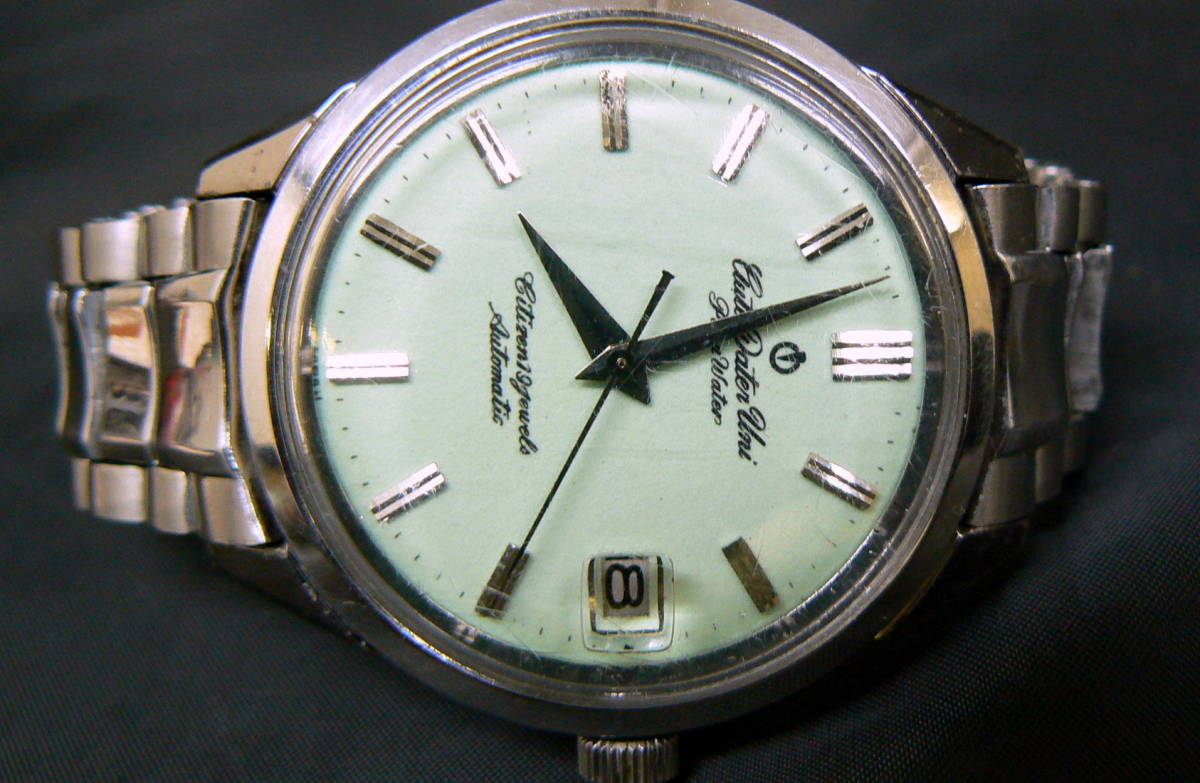 CITIZEN シチズン Auto Dater Uni AU14806 19石 メンズ 腕時計 自動巻 夜光板 ジャンク_画像2