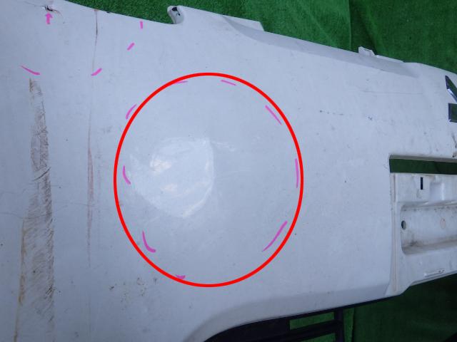 HA1W 前期 i (アイ) 純正フロントバンパー 三菱 白 パール 6400A423_画像3