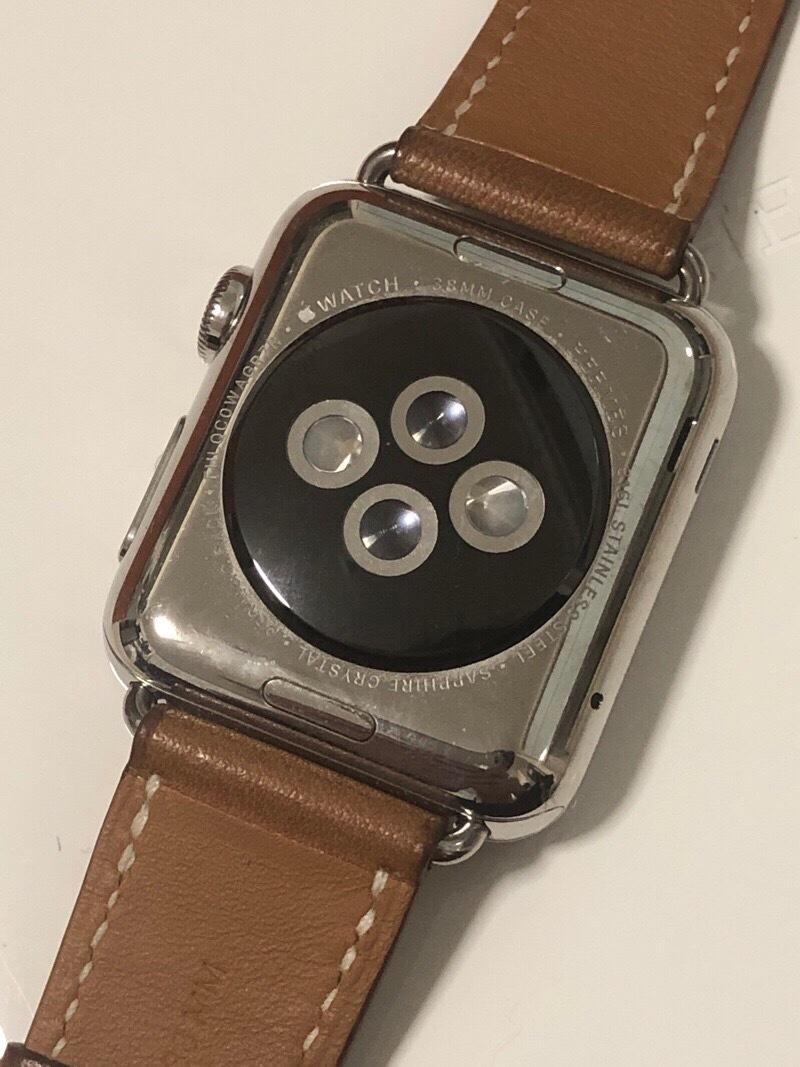 ジャンク エルメス アップルウォッチ 316L 38mm スマートウォッチ 腕時計_画像5